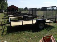 2014 6x12 Utility Trailer is a lightweight (980lb) LED