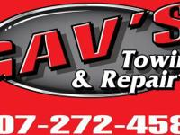 Gav's Towing and Repair P.O. Box 333 St. Charles, MN