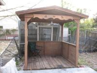 *** THIS GAZEBO IS THE REAL McCOY BECAUSE IS PURE WOOD