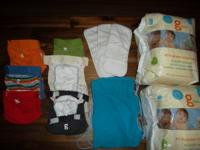 Gently used gdiapers in great condition! Size Small