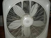 GE 20 Inch Box Fan With Thermostat Control Ideal for