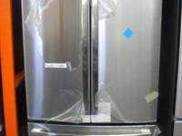 GE 26.3 cu. ft. French Door Fridge in Stainless Steel.