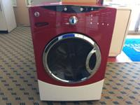 GE Cranberry Red Front Load Washer - USED GE Front Load
