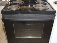GE Electric Black Stove - Self Clean Oven - Coil