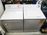 GE General Electric Washer Dryer Set Pair White Nice
