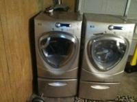 GE profile washer/dryer front loader set for sale.