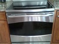1 years of age GE Profile Induction stove for sale.