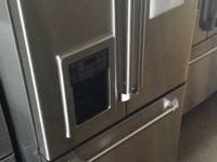 GE CAFE FRIDGE. FRENCH DOOR. STAINLESS STEEL. WATER