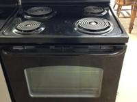 Here is a black GE stove that works great and prepares