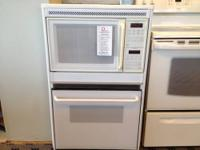 Ge White 27 Combo Built In Wall Oven Microwave Used