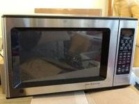 GE stainless 1.6 cu ft microwave Works great Perfect