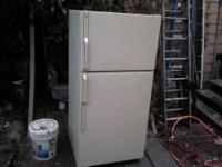1.Used White GE Side by Side Refridgerator Works
