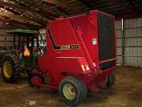 This is a really nice clean Gehl Round Baler with Total