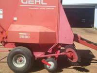 Gehl 2004 2880 Baler up to 5x6 bale, hay saver wheels,