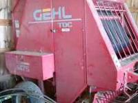 For sale Gehl TDC 1475 round baler excellent condition.