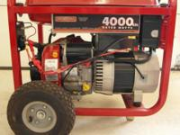 This is a very nice, low hour, electric start generator