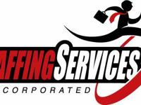 Staffing Services has openings for general laborers.