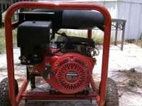 Porter Cable Electric Generator 4500 Watts. 9 HP Honda
