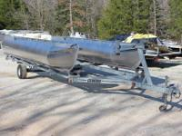 This is a 24 foot galavaized pontoon boat trailer made