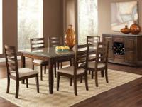 This Granite Top Geneva Dining Room Set Comes With The