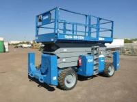 Clean Genie GS5390 rough terrain 4x4 scissor lift, well