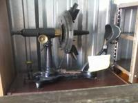 This is an early 1900s, eye machine.  Everything is