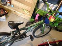 I am selling my son's BMX bike. It is about 4 years old