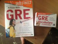 Gently used GRE book and flash cards Book was