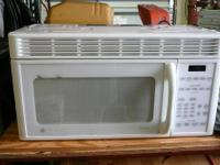 White GE spacemaker microwave for above range or can be