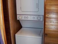 Very nice whirlpool sturdy thin twin stacked washer and