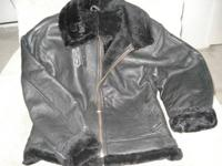 Exquisite Argentinian black leather coat covered with