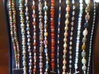 Many genuine gemstone & STERLING SILVER bracelets. Each