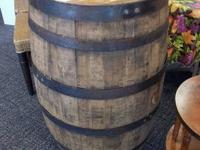 is a stunning genuine Jim Beam Whiskey Barrel. It is in