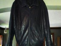 Men's Large dockers superior lamb leather jacket as