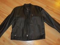Men?s size L, mid-weight genuine leather jacket with