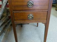 Up For Customer.  Antique mahogany end table with 2