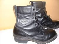 Like new authentic Harley Davidson Motorcycle boot size