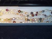 Genuine Mixed Pearl Necklace     very good example of a