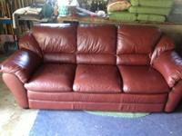 I have a genuine leather couch, chair and outta man for