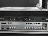 GENZ -BENZ GBE 600 Bass Amp Head (Tube & F.E.T.) & Road