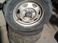 this is a set of 4 tires that came off of a 1995 geo