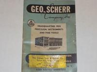 VINTAGE 1957 GEO. SCHERR CO, INC. INDUSTRIAL SUPPLY