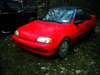 Nice rare Geo Metro Convertible 5 speed with factory