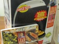 never-used George Foreman Extra Family Size Large Lean