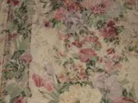 2 Georgeous Tapestry Floral Style Curtain & Valance for
