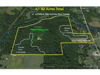 +/- 82 Acres with River Frontage and 3,000 sq ft home