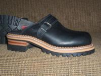 These are new, clean, never worn, GEORGIA LOGGER CLOGS.