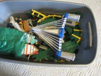 Huge bin of Fisher Price GeoTrax (container consisted