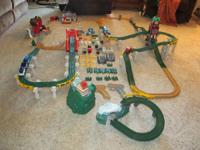 This huge set consists of 3 battery ran trains with
