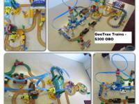 Huge GeoTrax Trains Lot - $250   Like New - Great